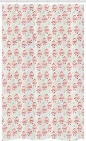 abakuhaus duschvorhang badezimmer deko set aus stoff mit haken breite 120 cm höhe 180 cm rosa blumen pastell zarte vögel kaufen otto
