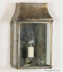 strathmore small flush outdoor wall lantern light antique brass