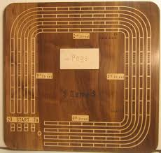 Custom Large Four Person Inlayed Cribbage Board SHIPPED