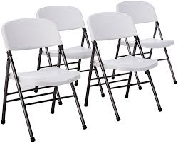 Cosco Folding Chairs And Table by Amazon Com Cosco Resin 4 Pack Folding Chair With Molded Seat And