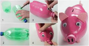Plastic Bottle Piggy Bank Step By Instructions