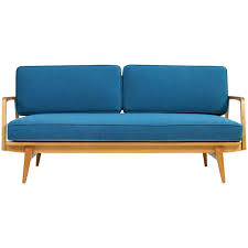 Marge Carson Sofa Construction by Rare And Beautiful 1950s Beech Wood Extendable Daybed Sofa Mid