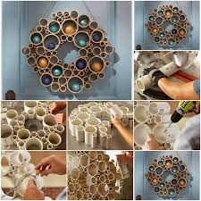 Home Decor With Waste Material Best 2017 Blue Colored Wall Pvc Pipe Diy Design