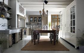 KitchenMesmerizing Shabby Chic Kitchen With Country Dining Set Also Soft Brown Wooden Cabinets Mesmerizing