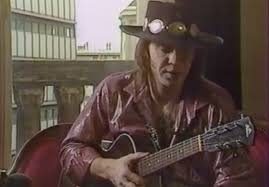 Very Early Footage Of Stevie Ray Vaughan Playing Solo Acoustic