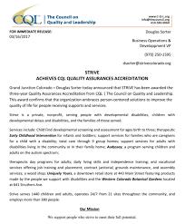 STRiVE Achieves CQL Quality Assurance Accreditation Strive