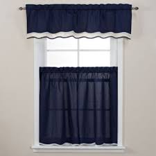 Bed Bath And Beyond Curtains And Valances by Buy White Blue Curtain Valance From Bed Bath U0026 Beyond