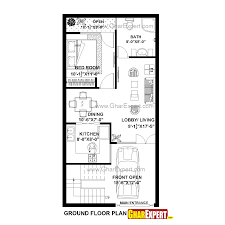 430201314908 1 House Plan For Feet By Plot Size Square Yards X Plans
