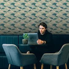 moderne mint grüne tapete bananas mit blättern vlies tapete üppige blumentapete für wohnzimmer