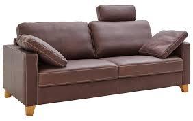 sofa 3 sitzer braun leder natura kansas
