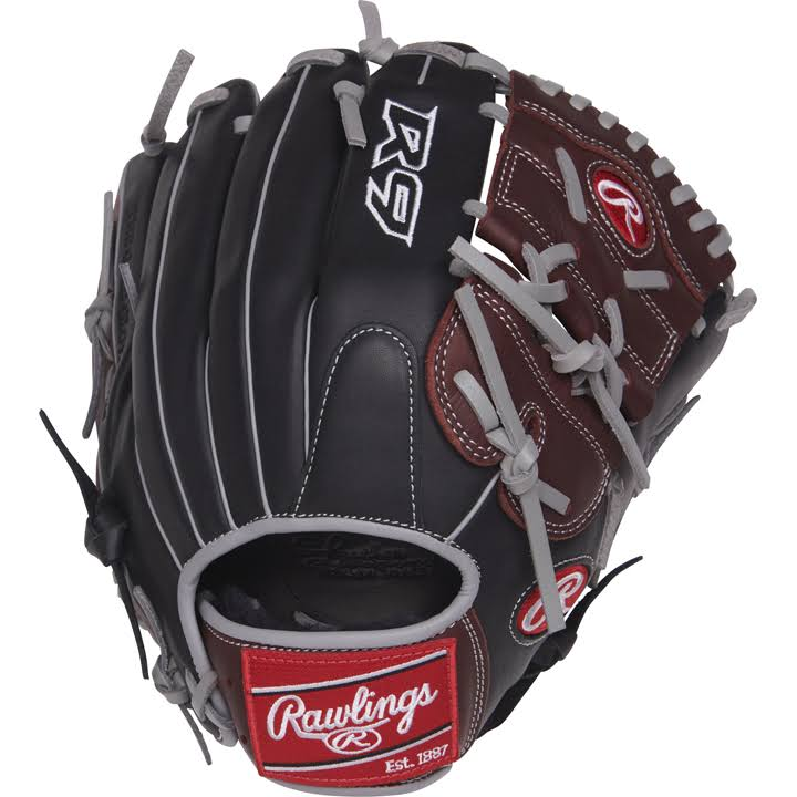 Rawlings R9206 R9 Series Baseball Glove - Black, Right Hand