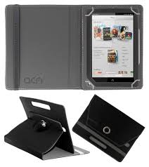 ACM-ROTATING 360 CASE BLACK For BARNES & NOBLE NOOK HD+ 9