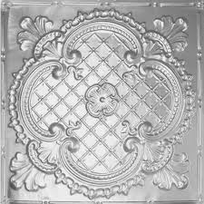 White Tin Ceiling Tiles Home Depot by Shanko 2 Ft X 2 Ft Lay In Suspended Grid Tin Ceiling Tile In