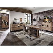 industrial design sideboard in haveleiche cognac mit graphit minneapolis 55 inkl led beleuchtung b h t ca 175 91 48 cm