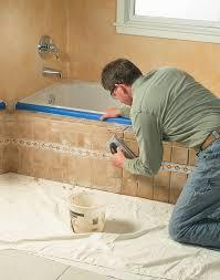 Tiling A Bathtub Alcove by Tiled Tub Apron