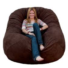 Brown Modern Bean Bag Chair Feature Large Size For Relaxed Position ... Durable Bean Bags Foam Sack Chair Nice Bag Chairs Comfy Kids Cover Only Electric Blue Stain 6 Foot Top 10 Best Of 2018 Review Fniture Reviews Jordan Manufacturing Company Classic Jumbo Navy Patio Majestic Home Goods Sofa Soft Comfortable Lounge Memory Round Loft Concepts Jack And Jil Wayfair Childrens Factory The 7 2019