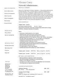 Sys Admin Resume Administrator System Samples