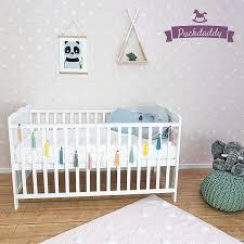 puckdaddy babybett nele 140x70 cm umbau bett aus holz in weiß höhenverstellbares gitterbett mit herausnehmbaren sproßen kinderbett 0 5 jahren