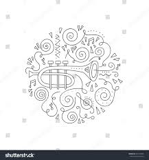 Jazz Festival Coloring Page Decorative Vector Illustration