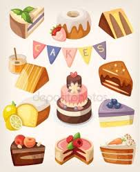 Cakes nd pies Stock Illustration