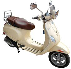 Motor Scooter 2009 New Vespa LXV 150 Cream W Brown Leather Upholstery VIN ZAPM448F Has Title