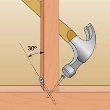 woodworking how do i properly nail two 2x4 u0027s at a 90 degree