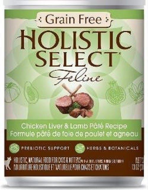 Holistic Select Grain Free Cat Pate - Chicken Liver & Lamb, 13 Oz