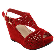 bonnibel women u0027s platform wedge heel cut out sling back sandals
