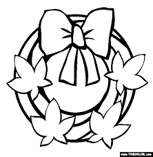 Fall Wreath Coloring Page