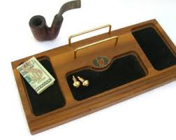 Mens Dresser Valet With Charger by Wood Valet Tray Etsy
