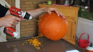 Pumpkin Carving With Drill by Pumpkin Carving With A Power Drill Youtube