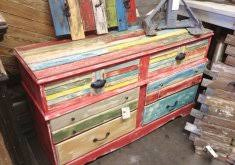 Multi Colored Distressed Furniture Color Sideboard Solid Hardwood All Through 54 In Wide 36 H 16