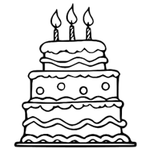 Cake clipart png black and white
