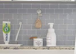 Accent Tiles For Kitchen Backsplash Stiquick Tiles Peel And Stick Backsplash For Kitchen Decorative Tiles 10 Sheets 12 X 12 10 Sheets Subway Grey
