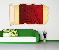 3d wandtattoo tapete herz ranke blumenranke rot gold liebe hintergrund schlafzimmer durchbruch selbstklebend wandbild wandsticker wohnzimmer wand