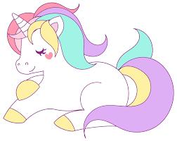 Pastel Unicorn Vector Clipart Image