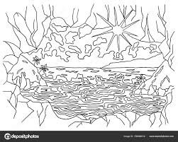 Coloriage Paysage Lac Automne à Imprimer Pour Les Enfants Dessin