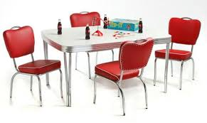 Remarkable Retro Dining Set Red 48 In Modern House With Table Designs 5