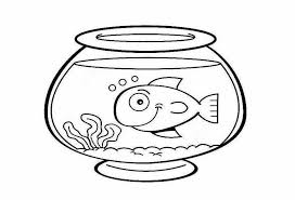 Fish Bowl Coloring Pages Preschool Printable Clipart