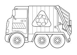 Recycling Garbage Truck Coloring Pages