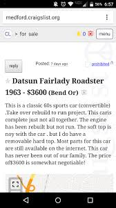 100 Medford Craigslist Cars And Trucks My Fairlady IH8MUD Forum