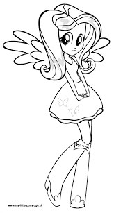 My Little Pony Equestria Girls Fluttershy Coloring