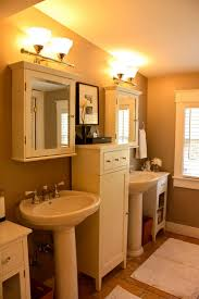 Pedestal Sink Storage Cabinet by Enthralling Pedestal Sink Storage Cabinet Surround With Wall