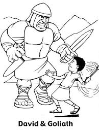 David And Goliath Coloring Pages To Print