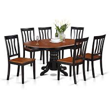 Amazon.com: East West Furniture AVAT7-BLK-W 7-Piece Dining Table Set ... Vintage Kitchen Table And Chairs Set House Architecture Design Shop Greyson Living Malone 70inch Marble Top Ding Westlake Transitional Cherry Wood Pvc Leg W6 The 85ft W 6 Forgotten Fniture Homesullivan 5piece Antique White And 401393w48 Plav7whiw Rubberwood 7piece Room Free Shipping Cerille Rustic Brown Of 2 By Foa Amazoncom America Bernette Round East West Niwe6bchw Pc Table Set With A