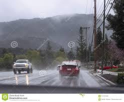100 Free Cars And Trucks Driving In Rain Stock Image Image Of Trees Road Seasonal 112151503