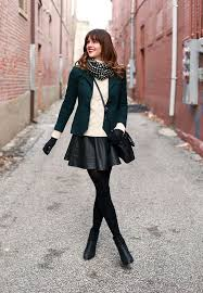 20 Style Tips On How To Wear A Leather Skirt This Winter