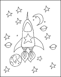 Free Printable Space Coloring Pages Rocket For Kids Colouring Sheets Ideas