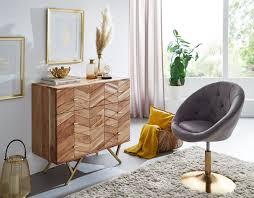 sideboard 90x86 5x40 cm akazie massivholz metall anrichte kommode 3 schubladen hoher kommodenschrank holz massiv standschrank wohnzimmer