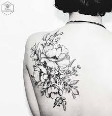 Black Tattoos Flower Shoulder